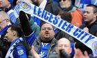 Happy Leicester City fans at the end of the game Barclays Premier League Manchester City vs Leic / Bild: (c) imago/Sportimage (imago sportfotodienst)