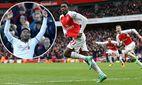 Arsenal s Danny Welbeck celebrates scoring his sides winning goal Barclays Premier League Arsenal / Bild: (c) imago/Sportimage (imago sportfotodienst)