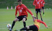 09 10 2015 xjhx Fussball 1 Bundesliga Eintracht Frankfurt Training emspor v l Johannes Flum E / Bild: (c) imago/Jan Huebner (imago sportfotodienst)