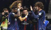 Jubel Ezequiel Lavezzi PSG FOOTBALL Paris Saint Germain vs Toulouse Halbfinale Coupe de la L / Bild: (c) imago/PanoramiC (imago sportfotodienst)