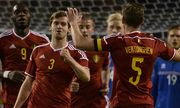 BRUSSELS BELGIUM Belgium s Nicolas Lombaerts and Belgium s Jan Vertonghen pictured during a fri / Bild: (c) imago/Belga (imago sportfotodienst)