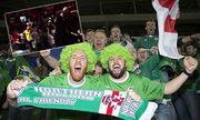 Northern Ireland fans celebrate at the end of the UEFA European Championship EM Europameisterschaft / Bild: (c) imago/BPI (imago sportfotodienst)