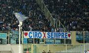 Napoli fans with a Ciro Esposito banner Football Serie A SSC Napoli PUBLICATIONxNOTxINxIT / Bild: (c) imago/Insidefoto (imago sportfotodienst)