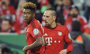 v li David ALABA Bayern Muenchen Franck RIBERY Bayern Muenchen Aktion Fussball DFB Pokal Halb / Bild: (c) imago/Sven Simon (imago sportfotodienst)