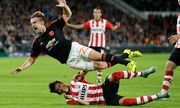 L R Hector Moreno of PSV Eindhoven Luke Shaw of Manchester United ManU during the UEFA Champions / Bild: (c) imago/VI Images (imago sportfotodienst)
