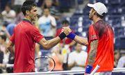 Andreas Haider Maurer of Austria congratulates Novak Djokovic of Serbia at the US OPEN 2015 US Ope / Bild: (c) imago/BPI (imago sportfotodienst)