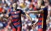 FC Barcelona Barca s Javier Mascherano l and Andres Iniesta during La Liga match May 14 2016 PU / Bild: (c) imago/Alterphotos (imago sportfotodienst)