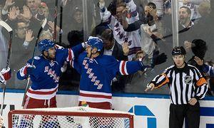 October 13 2016 New York Rangers Right Wing Michael Grabner 40 celebrates with New York Rangers / Bild: (c) imago/Icon SMI (imago sportfotodienst)