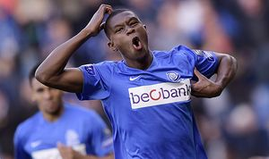 GENK BELGIUM Genk s Christian Kabasele celebrates after scoring during the Jupiler Pro League m / Bild: (c) imago/Belga (imago sportfotodienst)