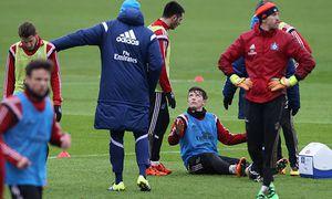 Bilder des Tages SPORT HSV Training 04 02 2016 1 Fussball Bundesliga Saison 2015 2016 HSV Trainin / Bild: (c) imago/Michael Schwarz (imago sportfotodienst)