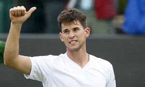 160630 LONDON June 29 2016 Dominic Thiem of Austria celebrates after the men s singles fir / Bild: (c) imago/Xinhua (imago sportfotodienst)