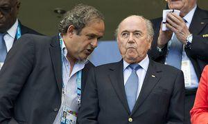 UEFA Präsident Michel PLATINI links und Fifa Präsident Joseph Sepp BLATTER auf der Tribuene Deuts / Bild: (c) imago/Sven Simon (imago sportfotodienst)