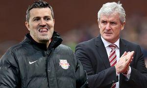 Stoke s manager Mark Hughes Barclay s Premier League Stoke City vs Aston Villa Britannia Stad / Bild: (c) imago/Sportimage (imago sportfotodienst)