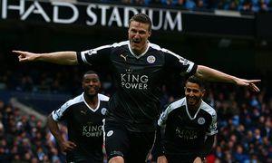 Robert Huth of Leicester City celebrates scoring his goal to make the score 0 3 during the Barclays / Bild: (c) imago/BPI (imago sportfotodienst)