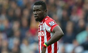 Stoke City s Mame Diouf during the Barclays Premier League match between Aston Villa and Stoke City / Bild: (c) imago/BPI (imago sportfotodienst)