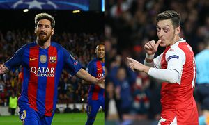 Lionel Messi of FC Barcelona Barca celebrates scoring a goal to make the score 1 0 during the UEFA C / Bild: (c) imago/BPI (imago sportfotodienst)