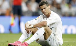Real Madrid s Cristiano Ronaldo dejected during La Liga match September 26 2015 PUBLICATIONxINxGER / Bild: (c) imago/Alterphotos (imago sportfotodienst)