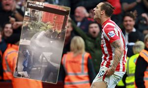 Aston Villa v Stoke City Birmingham UK 03 10 2015 Marko Arnautovic SC celebrates scoring / Bild: (c) imago/Paul Marriott (imago sportfotodienst)
