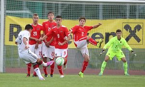 SOCCER - Internationaler U17 Jugend TOTO Cup, AUT vs GER / Bild: (c) GEPA pictures/ Philipp Brem