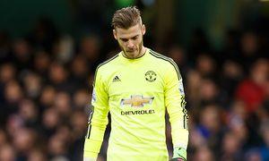 Goalkeeper David de Gea of Manchester United ManU looks dejected during the Barclays Premier League / Bild: (c) imago/BPI (imago sportfotodienst)
