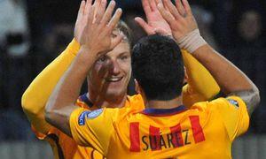 BARYSAW BELARUS OCTOBER 20 2015 Barcelona s Ivan Rakitic L and Luis Suarez celebrate scoring i / Bild: (c) imago/ITAR-TASS (imago sportfotodienst)