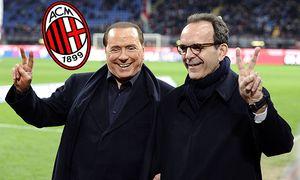Mailand Italien Fussball Serie A AC Mailand vs Lazio Rom Silvio Berlusconi Stefano Parisi PUB / Bild: (c) imago/Gribaudi/ImagePhoto (imago sportfotodienst)