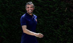 GRA048 BARCELONA 21 07 2016 El entrenador del FC Barcelona Barca Luis Enrique Martínez saluda a / Bild: (c) imago/Agencia EFE (imago sportfotodienst)