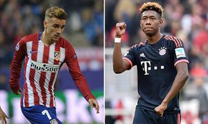 Griezmann - David Alaba - Atletico Madrid - Bayern München /