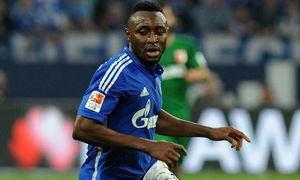 Chinedu Obasi Schalke 04 31 10 2014 Fussball 1 Bundesliga Schalke 04 vs FC Augsburg / Bild: (c) imago/Eibner (imago sportfotodienst)