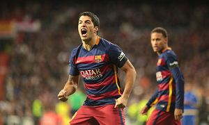 Madrid Spain 21th November 2015 Luis Suarez forward from FC Barcelona Barca celebrating after sco / Bild: (c) imago/Cordon Press/Miguelez Spor (imago sportfotodienst)