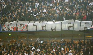 NOLYMPIA HSV Fans gegen die Olympischen Spiele in Hamburg Protest ZUschauer Fussball 1 Bundesli / Bild: (c) imago/Sven Simon (imago sportfotodienst)