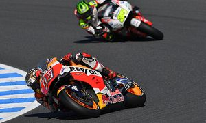 Motegi Japan Motorsport Motorrad WM MotoGP Qualifikation Marc Marquez Cal Cruchlow PUBLICATIO / Bild: (c) imago/Gribaudi/ImagePhoto (imago sportfotodienst)