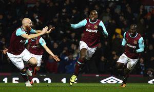 Angelo Ogbonna of West Ham United celebrates scoring his sides second goal l during the Emirates FA / Bild: (c) imago/BPI (imago sportfotodienst)