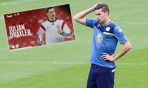 Julian Draxler VfL Wolfsburg 1 Fussball Bundesliga Saison 2015 2016 Training VfL Wolfsburg am V / Bild: (c) imago/Christian Schroedter (imago sportfotodienst)