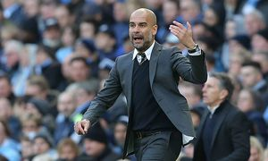 Josep Guardiola manager of Manchester City during the English Premier League match at the the Etihad / Bild: (c) imago/Sportimage (imago sportfotodienst)