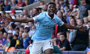 Kelechi Iheanacho celebrates scoring the opening goal during the Barclays Premier League match betwe / Bild: (c) imago/BPI (imago sportfotodienst)