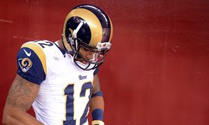 SEP 20 2015 St Louis Rams wide receiver Stedman Bailey 12 makes his way through the tunnel and / Bild: (c) imago/ZUMA Press (imago sportfotodienst)