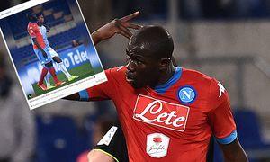 Fußball Spielunterbrechung nach rassistischen Beleidigungen durch Fans von Lazio Rom Kalidou Koulib / Bild: (c) imago/Insidefoto (imago sportfotodienst)