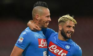 September 24 2016 Naples Italy Marek Hamsik and Lorenzo Insigne of SSC Napoli celebrates after / Bild: (c) imago/ZUMA Press (imago sportfotodienst)