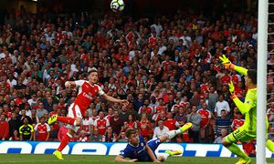 Arsenal v Chelsea London UK 24 09 2016 Mesut Ozil A scores a goal for Arsenal 3 0 PUBLIC / Bild: (c) imago/Paul Marriott (imago sportfotodienst)