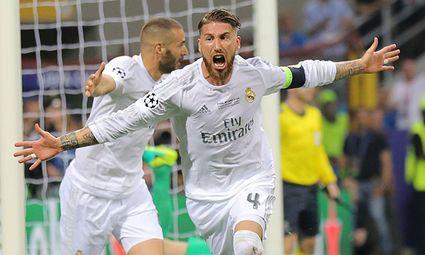 Sergio RAMOS Real Madrid 4 Torjubel Jubel nach dem Tor zum 1 0 Jubel Freude Emotionen Feiern L / Bild: (c) imago/ActionPictures (imago sportfotodienst)
