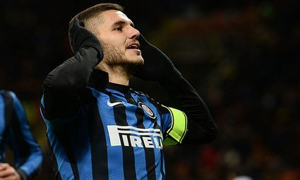 Mg Milano 03 02 2016 Football Serie A Inter Mailand vs Chievo Verona Mauro Icardi PUBLICATIO / Bild: (c) imago/Gribaudi/ImagePhoto (imago sportfotodienst)