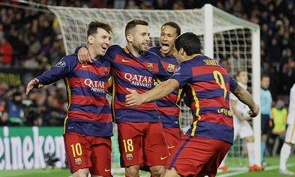 24 11 2015 Nou Camp Barcelona Spain Champions League Barcelona versus AS Roma Messi celebrates / Bild: (c) imago/Action Plus (imago sportfotodienst)