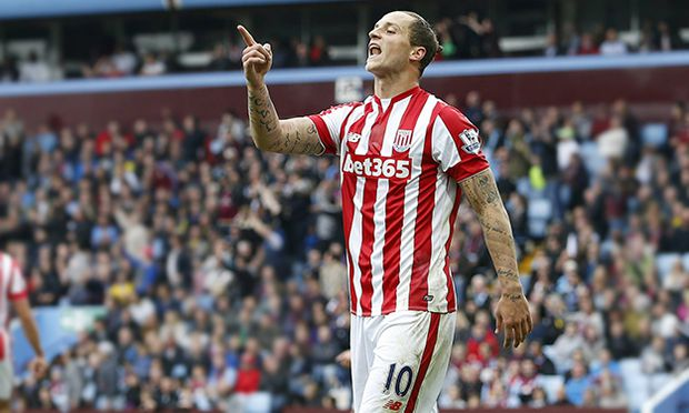 Stoke City s Marko Arnautovic shows his displeasure at the goal being ruled out during the Barclays / Bild: (c) imago/BPI (imago sportfotodienst)