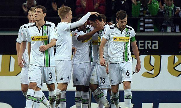05 02 2016 xhbx Borussia Moenchengladbach SV Werder Bremen emspor v l Torjubel Goal celebrati / Bild: (c) imago/Jan Huebner (imago sportfotodienst)