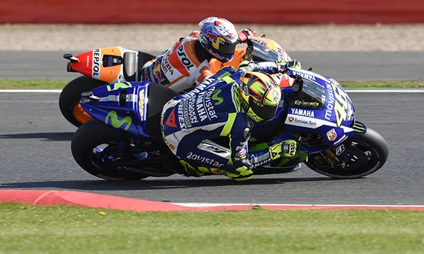 29 08 2015 Silverstone Northants UK OCTO British Grand Prix Valentino Rossi Movistar Yamaha d / Bild: (c) imago/Action Plus (imago sportfotodienst)