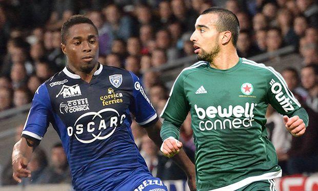 Francois Kamano bastia FOOTBALL Olympique Lyon vs SC Bastia Ligue 1 2015 2016 23 09 2015 Fred / Bild: (c) imago/PanoramiC (imago sportfotodienst)