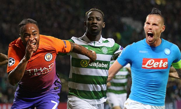 Moussa Dembele of Celtic celebrates scoring to take the lead 3 2 during the Uefa Champions League Gr / Bild: (c) imago/BPI (imago sportfotodienst)