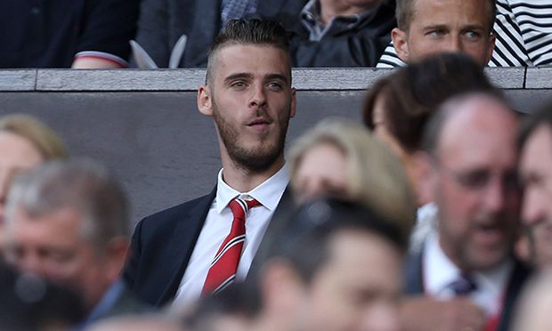 David de Gea of Manchester United ManU watches on from the stands Manchester United vs Tottenham / Bild: (c) imago/Sportimage (imago sportfotodienst)