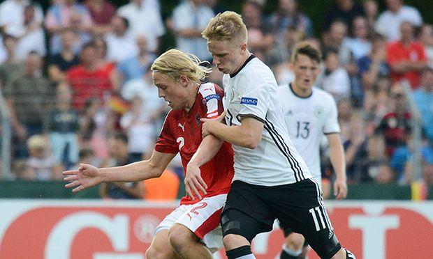 17 07 2016 xmhx Fussball Europameisterschaft 2016 U19 Oesterreich Deutschland emspor v l Xave / Bild: (c) imago/Jan Huebner (imago sportfotodienst)